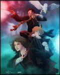 Harry Potter -Trio- by diabolumberto