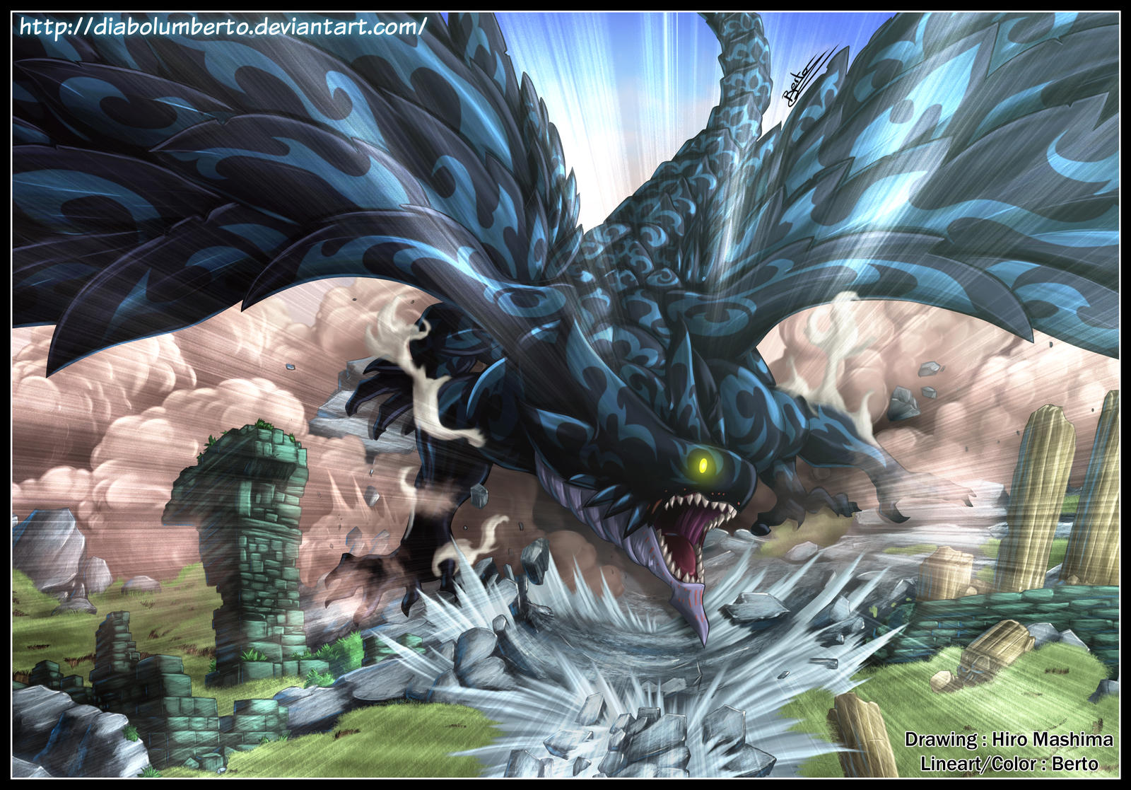 The Dragonslayers [Flash and Naga] Acnologia_is_screaming_by_diabolumberto-d4b3fmy