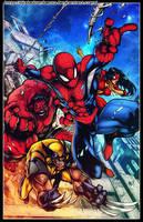 Avenging Spiderman by diabolumberto