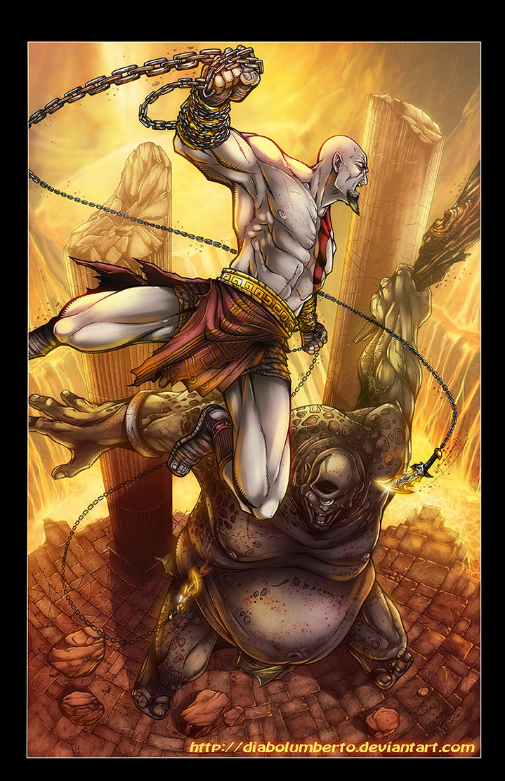 God of war - Kratos by diabolumberto