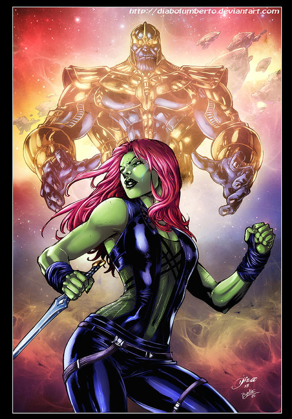Gamora - Thanos by diabolumberto