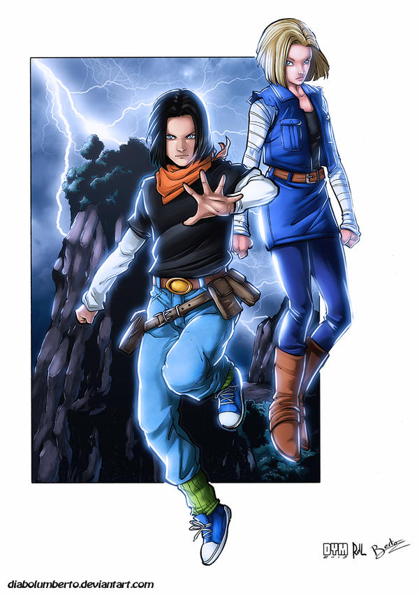 Dragon ball z c17 c18 by diabolumberto on deviantart - Dragon ball z c18 ...