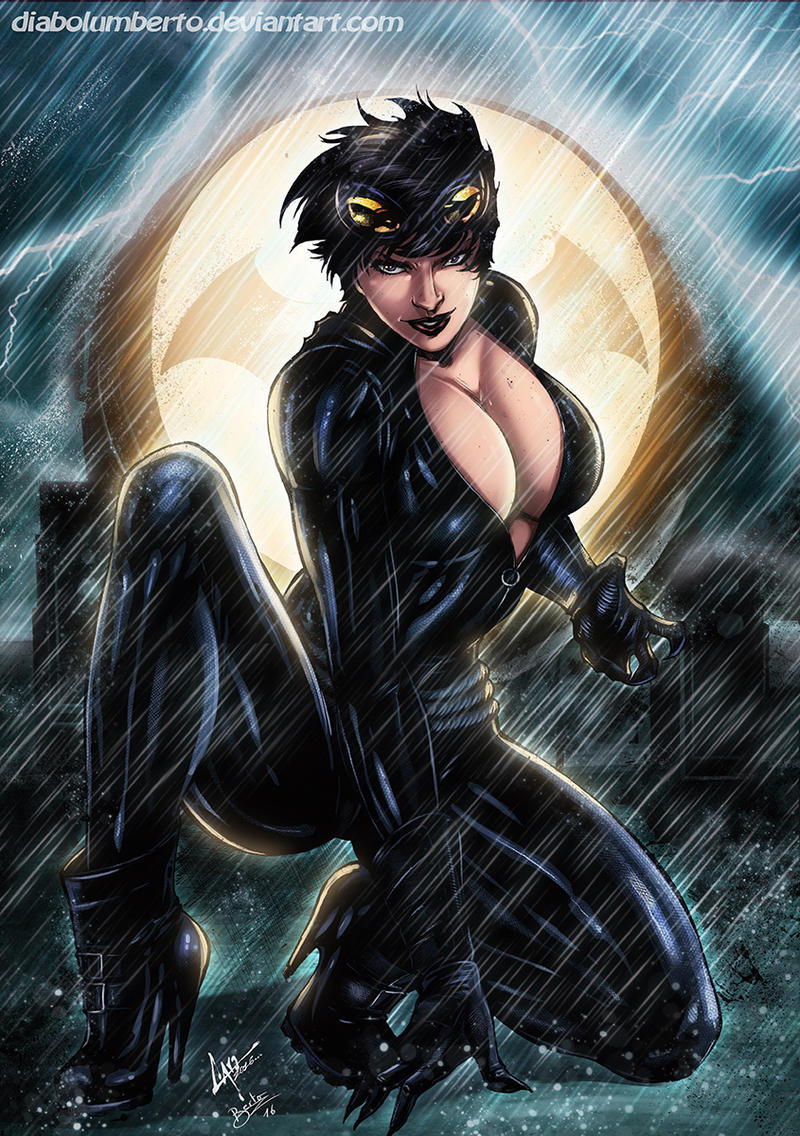 Cat woman big tits