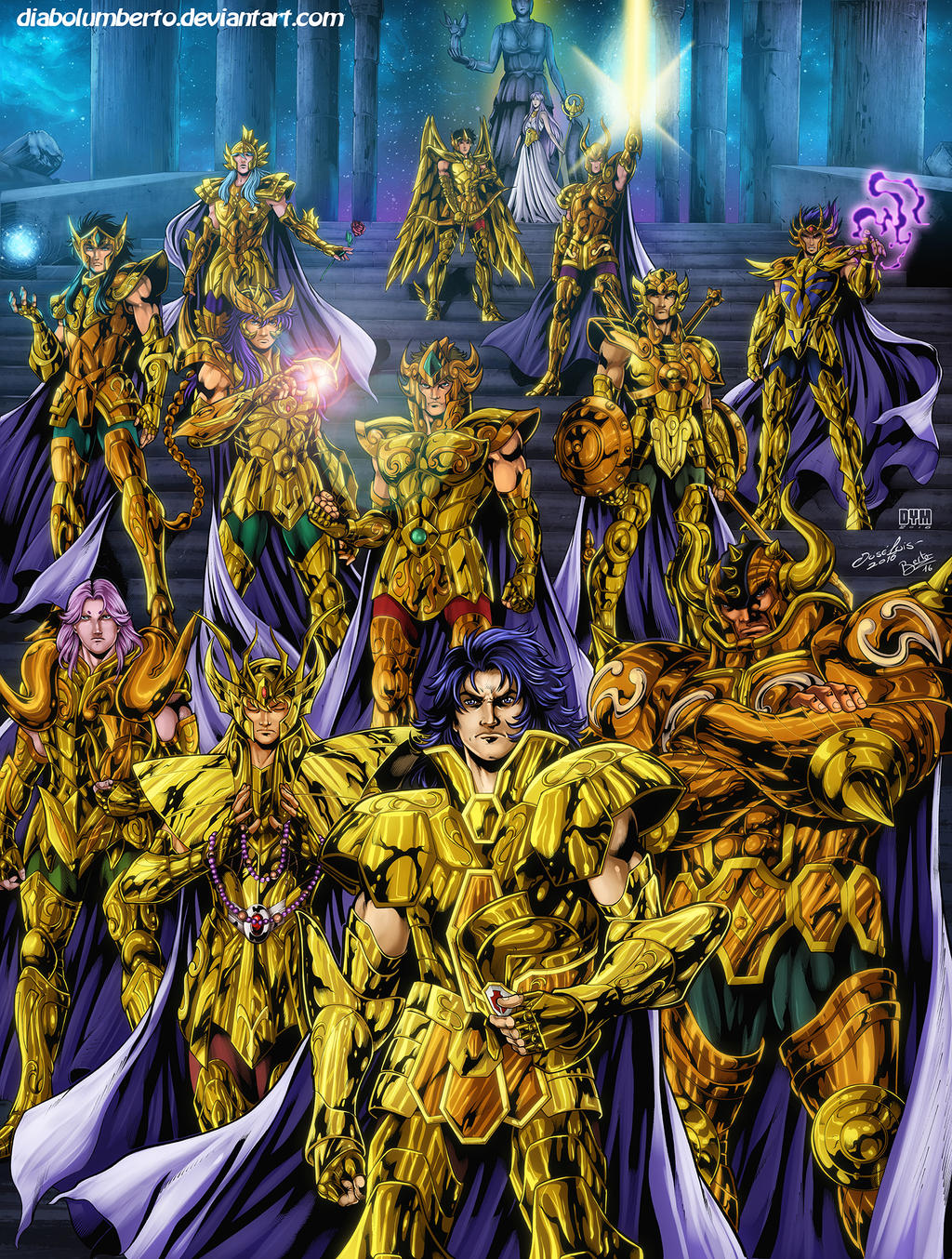 saint seiya   gold saints by diabolumberto on deviantart