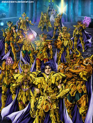 Saint Seiya - Gold saints by diabolumberto