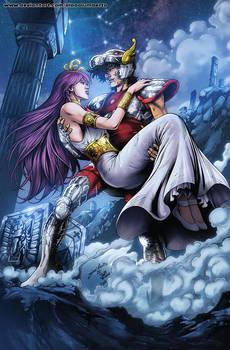 Seiya and Athena