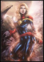 Captain Marvel by diabolumberto