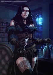 The Witcher III : Yennefer by diabolumberto