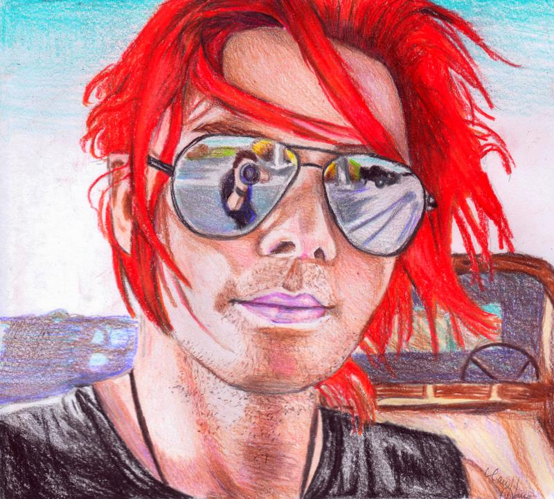 gerard way and aviators color by hmbhaines