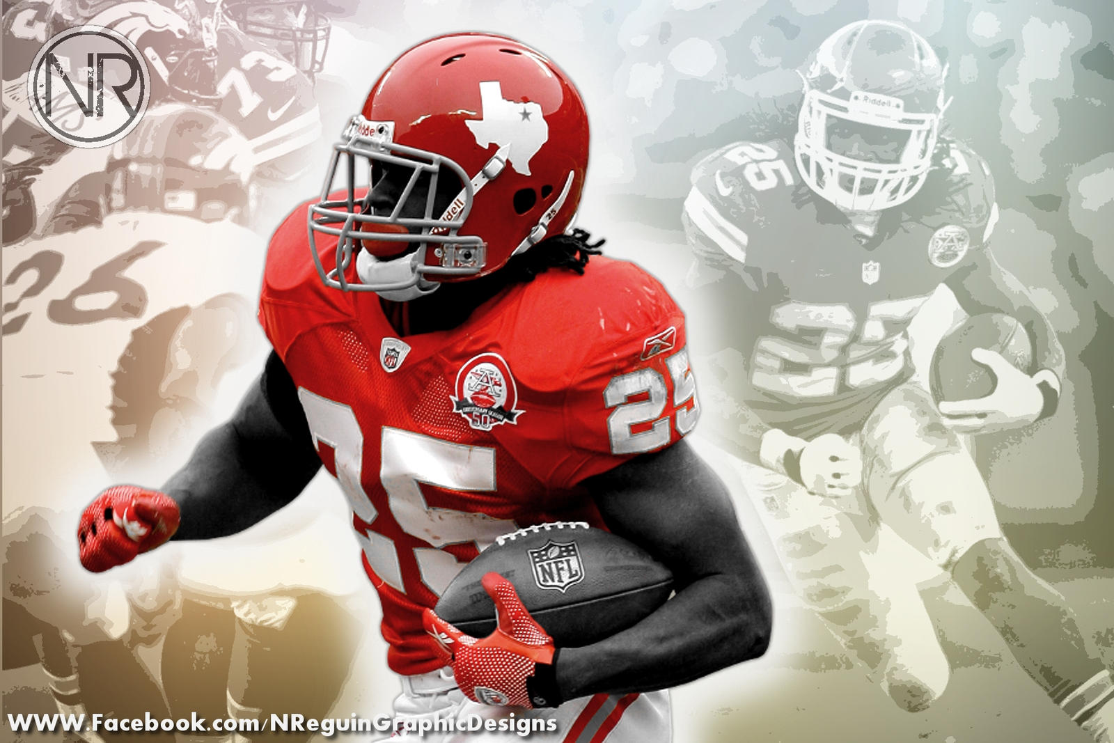 jamaal charles color splash computer background by
