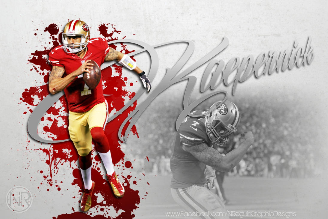 hd colin kaepernick red splash computer background by