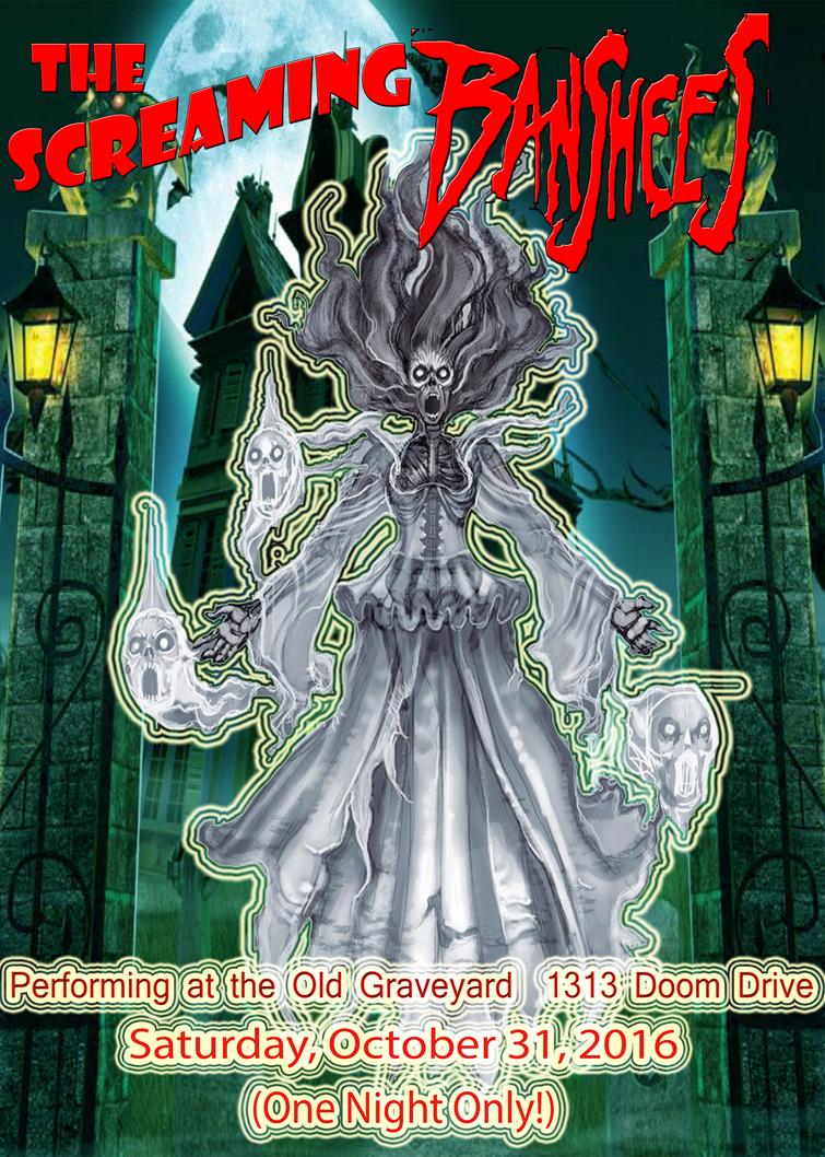 Screaming Banshees Band Poster by horrorshowfreak