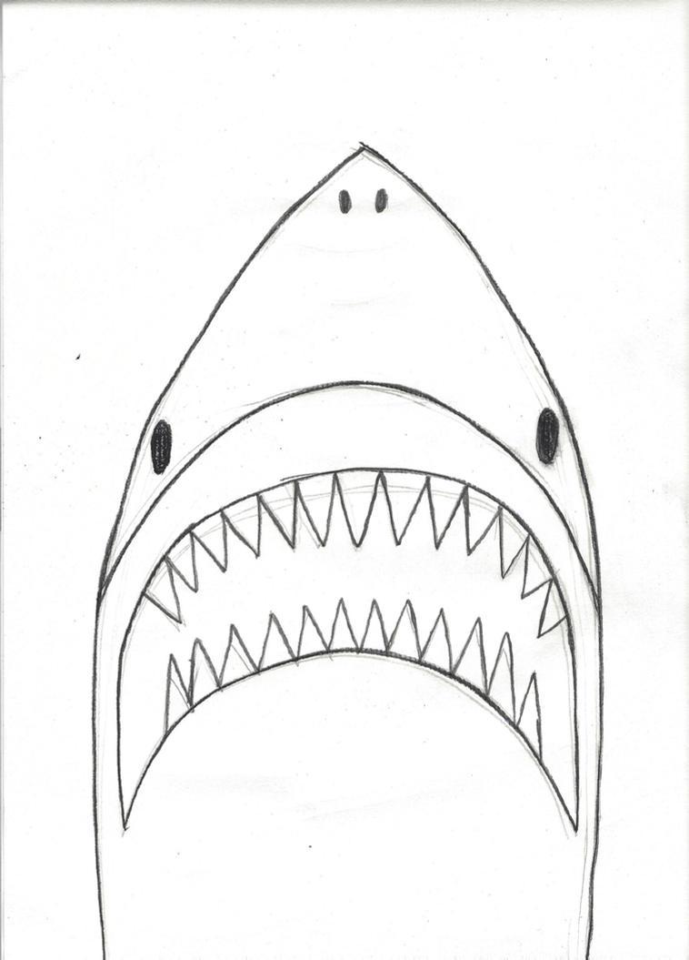 Inktober Day 13: Jaws by horrorshowfreak