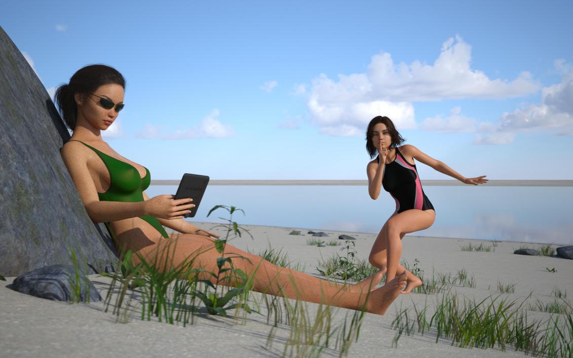 18-8-beach-sneaky-sister-mk2 by rcbcgreenpanzer