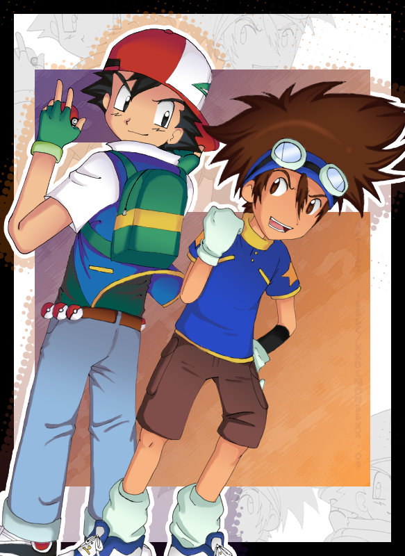 Anime Characters Born On December 7 : Pokemon digimon by hyoutas on deviantart