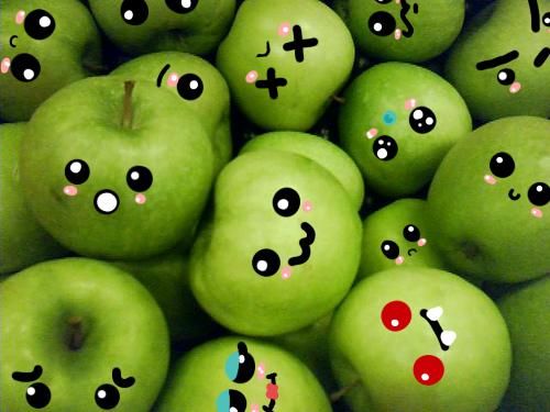 Cute apples by MissMiky on deviantART