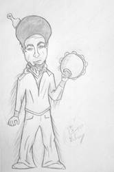 Rhett McLaughlin w/afro by stevethewonderllama