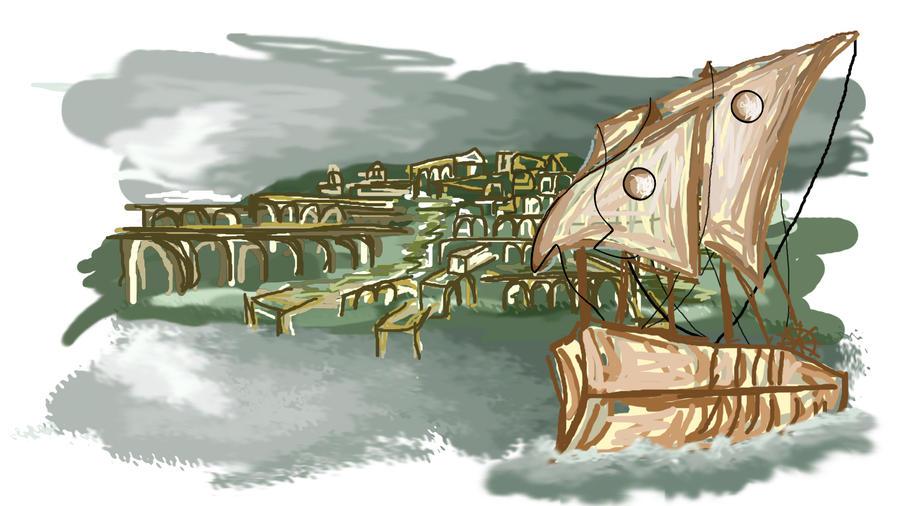 Greek city skribble by praetor-FEMI