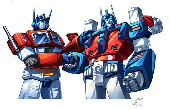 Optimus Prime and Ultra magnus by Dan-the-artguy