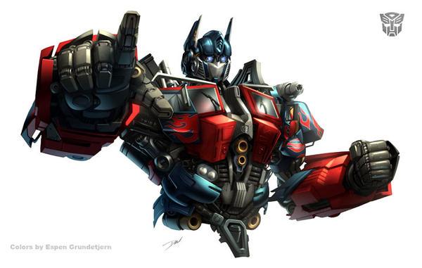 Optimus Prime movie bust by Dan-the-artguy