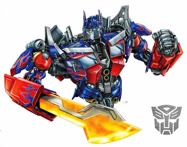 Optimus Prime movie with sword by Dan-the-artguy