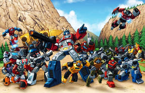 Autobots 84 Ark groupshot by Dan-the-artguy
