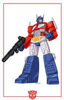 Optimus Prime cartoon look by Dan-the-artguy