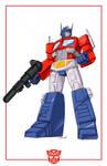 Optimus Prime cartoon look