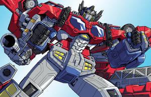 Cybertron Optimus Prime by Dan-the-artguy