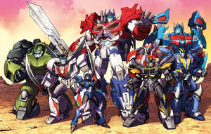Transformers Prime Autobots teamshot by Dan-the-artguy