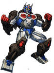 Optimus Primal Beast Wars 10th anniv version by Dan-the-artguy