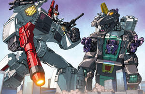 Metroplex vs. Trypticon by Dan-the-artguy
