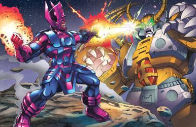 Galactus v Unicron by Dan-the-artguy