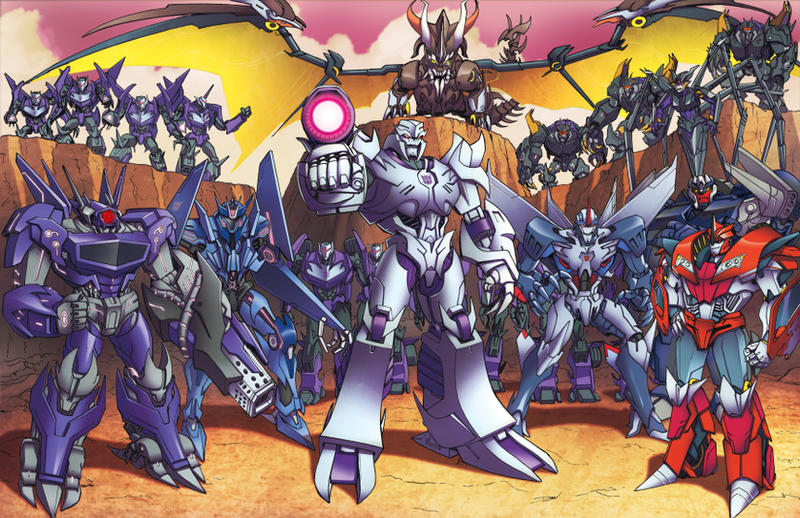 Prime Season 3 Decepticons by Dan-the-artguy
