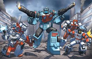 Protectabots team-shot by Dan-the-artguy