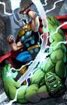 Thor v. Hulk commission