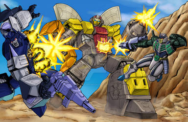 Omega Supreme vs. Overlord and Thunderwing