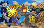 Omega Supreme vs. Overlord and Thunderwing
