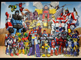 Autobots 85 cartoon team shot