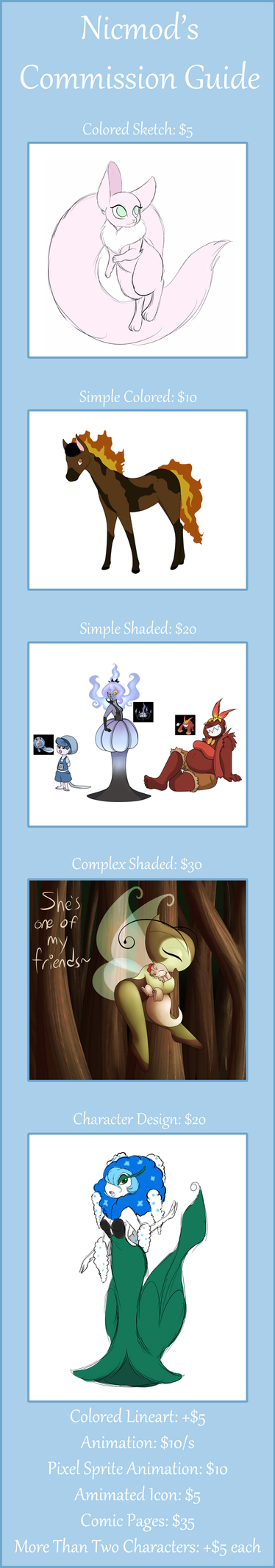 Updated Commission List by CommonLemon