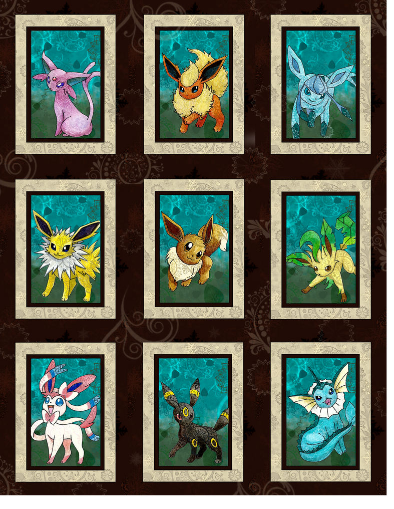 The Eeveelutions by Macuarrorro