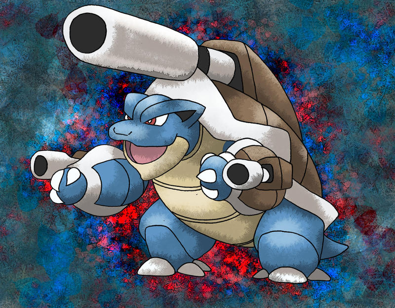 mega blastoise by macuarrorro on deviantart
