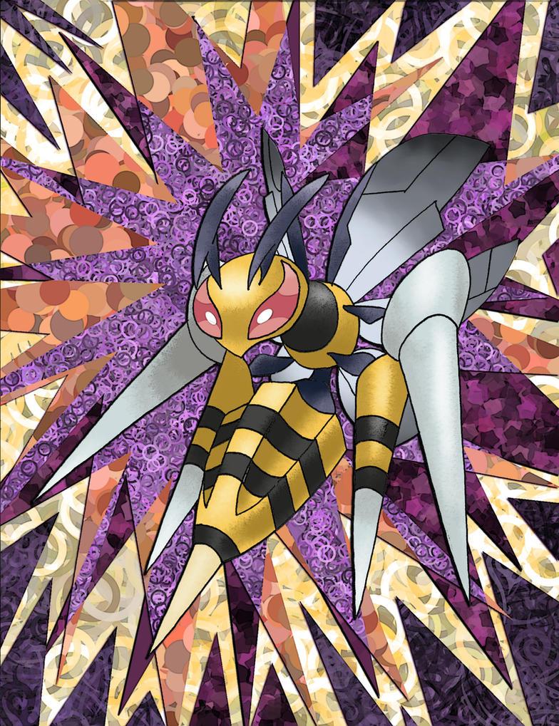 Mega Beedrill by Macuarrorro