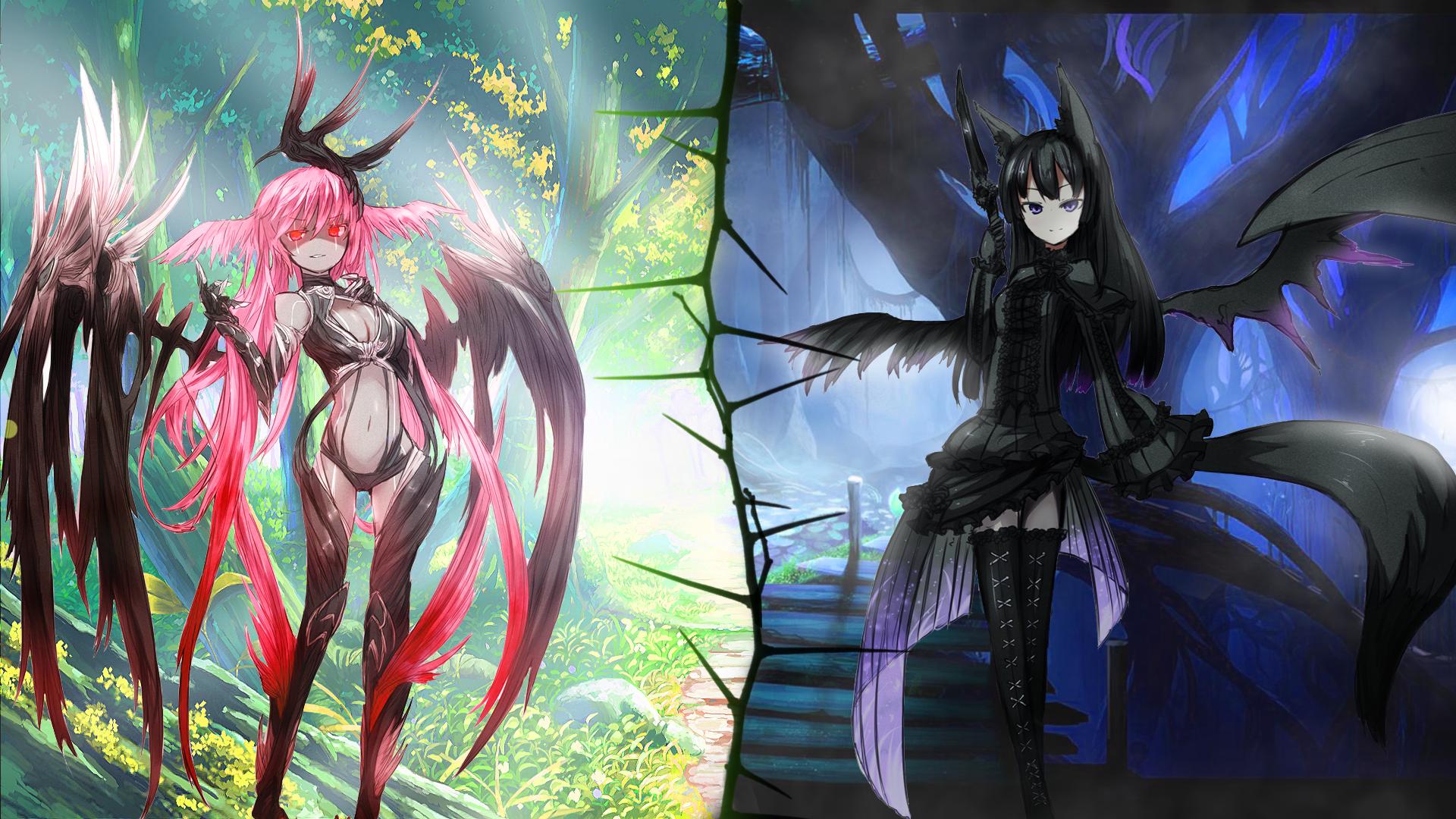Demon Girls Wallpaper By Oolimekilnoo Demon Girls Wallpaper By Oolimekilnoo