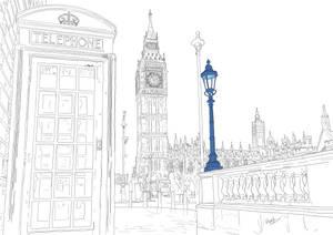 London - Big Ben Saint Stephen's Tower Parliament