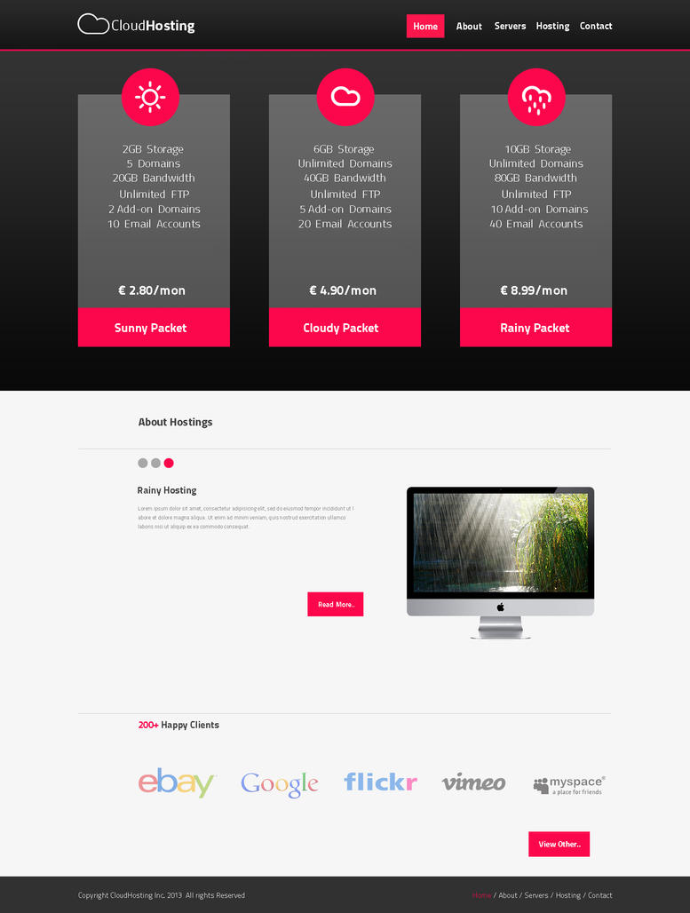 Website template for dating site