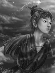 Peter Pan - Fanart - GreyScale by PedroMA26