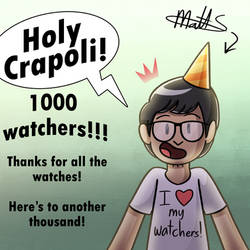 1000 WATCHERS SELF PORTRAIT SPECIAL DRAWING THING!
