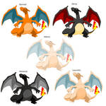 Charizard colorations