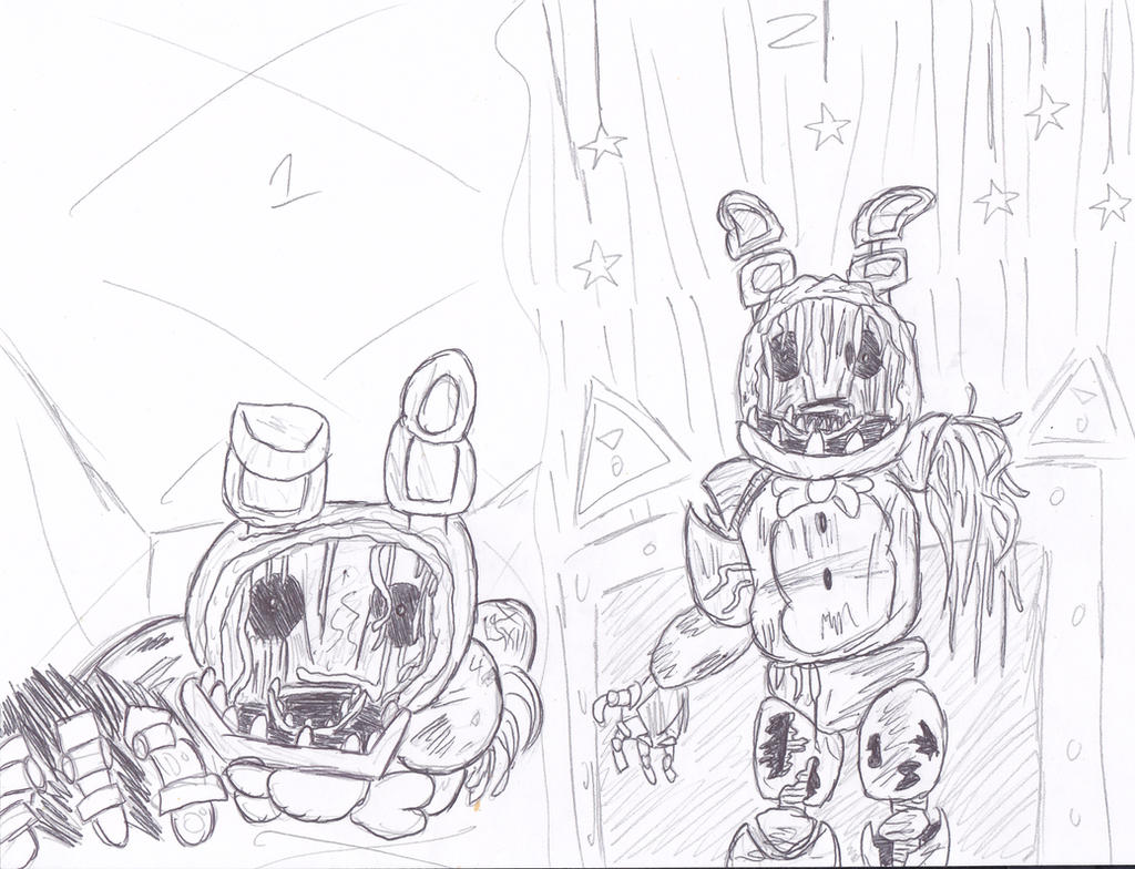 Five Nights At Freddys withered bonnie by ...